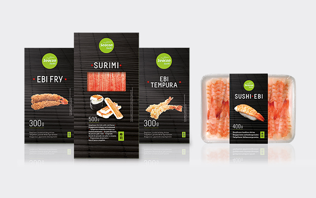 Examples of SC's sushi products